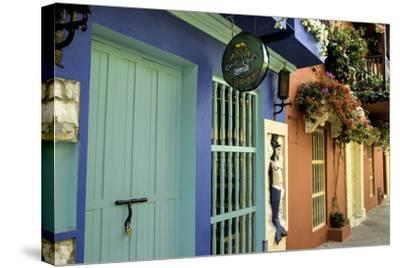 Wonderful Spanish Colonial Architecture, Old City, Cartagena, Colombia-Jerry Ginsberg-Stretched Canvas Print