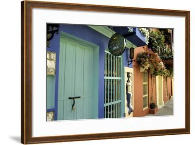Wonderful Spanish Colonial Architecture, Old City, Cartagena, Colombia-Jerry Ginsberg-Framed Photographic Print