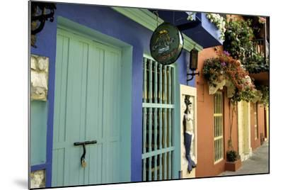 Wonderful Spanish Colonial Architecture, Old City, Cartagena, Colombia-Jerry Ginsberg-Mounted Photographic Print