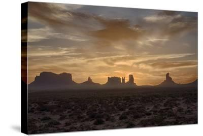 USA, Arizona, Monument Valley, First Light-John Ford-Stretched Canvas Print