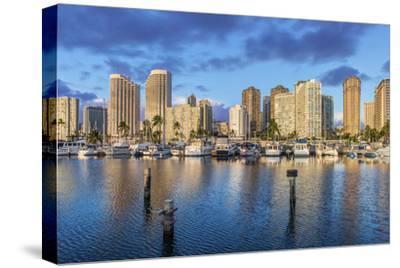USA, Hawaii, Oahu, Honolulu, Ala Moana Marina-Rob Tilley-Stretched Canvas Print