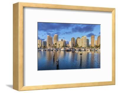 USA, Hawaii, Oahu, Honolulu, Ala Moana Marina-Rob Tilley-Framed Photographic Print