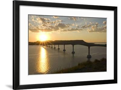 Four Bears Bridge Stretches across the Missouri River, North Dakota-Angel Wynn-Framed Photographic Print
