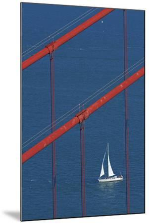 California, San Francisco, Golden Gate Bridge and Yacht-David Wall-Mounted Photographic Print