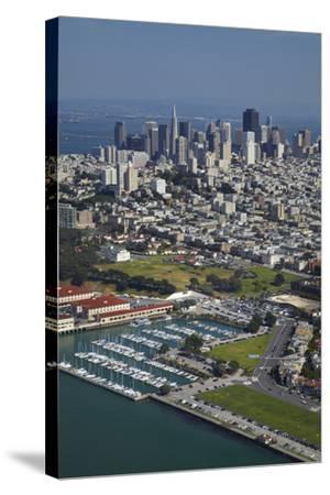 California, San Francisco, Marina and Downtown San Francisco, Aerial-David Wall-Stretched Canvas Print