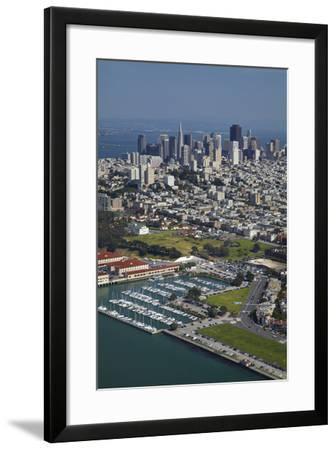 California, San Francisco, Marina and Downtown San Francisco, Aerial-David Wall-Framed Photographic Print