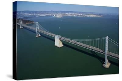 California, Bay Bridge, San Francisco Bay to Yerba Buena Island-David Wall-Stretched Canvas Print