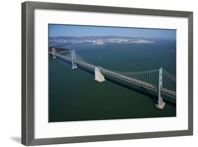 California, Bay Bridge, San Francisco Bay to Yerba Buena Island-David Wall-Framed Photographic Print
