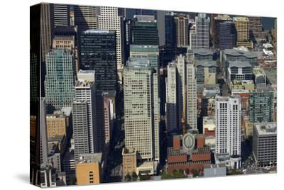 California, San Francisco, Skyscrapers around Mission Street-David Wall-Stretched Canvas Print