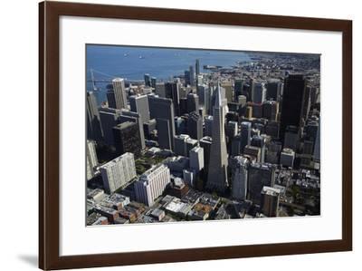 California, San Francisco, Transamerica Pyramid Skyscraper and Skyline-David Wall-Framed Photographic Print
