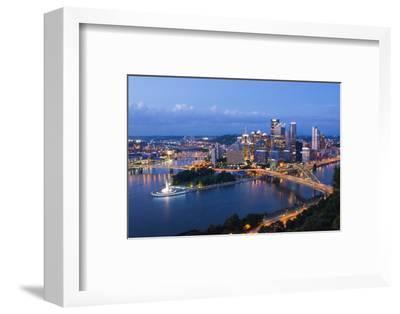 Pittsburgh, Pennsylvania, Skyline from Mt Washington of Downtown City-Bill Bachmann-Framed Photographic Print