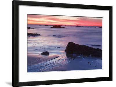 Dawn over the Atlantic Ocean in Rye, New Hampshire. Wallis Sands SP-Jerry & Marcy Monkman-Framed Photographic Print
