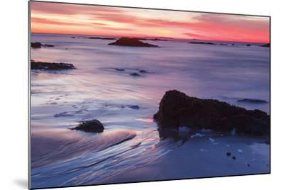 Dawn over the Atlantic Ocean in Rye, New Hampshire. Wallis Sands SP-Jerry & Marcy Monkman-Mounted Photographic Print