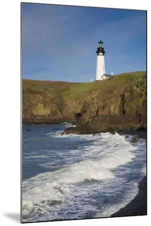 Yaquina Head Lighthouse, Newport, Oregon, USA-Brian Jannsen-Mounted Photographic Print