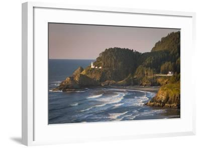 Heceta Head Lighthouse Along the Oregon Coast, USA-Brian Jannsen-Framed Photographic Print
