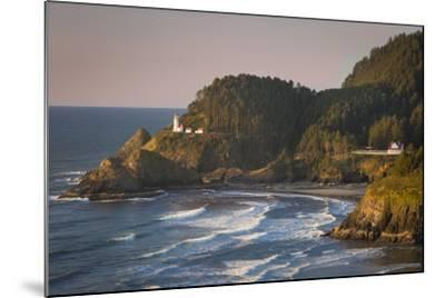 Heceta Head Lighthouse Along the Oregon Coast, USA-Brian Jannsen-Mounted Photographic Print