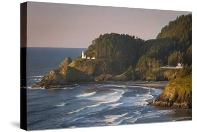 Heceta Head Lighthouse Along the Oregon Coast, USA-Brian Jannsen-Stretched Canvas Print