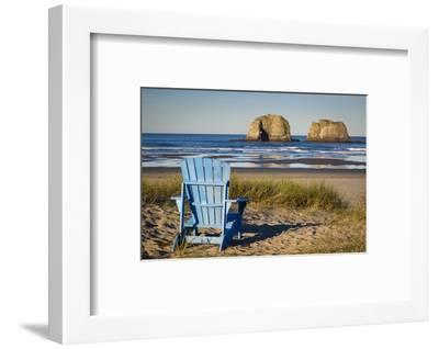 Sunrise over One of the Twin Rocks, Near Rockaway, Oregon, USA-Brian Jannsen-Framed Photographic Print