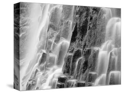 USA, Oregon, Three Sisters Wilderness Area. Close-up of Proxy Falls-Dennis Flaherty-Stretched Canvas Print