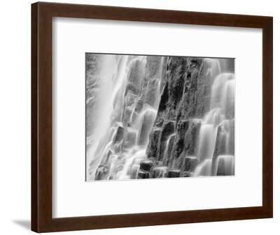 USA, Oregon, Three Sisters Wilderness Area. Close-up of Proxy Falls-Dennis Flaherty-Framed Photographic Print