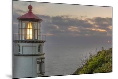 Heceta Head Lighthouse at Sunset Near Florence, Oregon, USA-Chuck Haney-Mounted Photographic Print