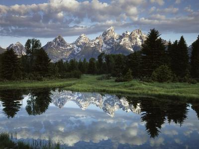 Wyoming, Grand Teton NP, the Grand Tetons and Clouds-Christopher Talbot Frank-Photographic Print