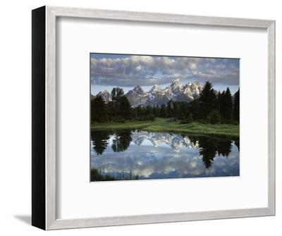 Wyoming, Grand Teton NP, the Grand Tetons and Clouds-Christopher Talbot Frank-Framed Photographic Print