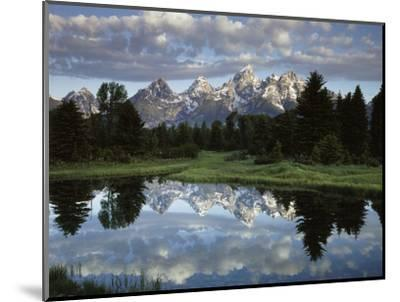 Wyoming, Grand Teton NP, the Grand Tetons and Clouds-Christopher Talbot Frank-Mounted Photographic Print