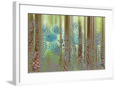 USA, Washington State, Seabeck. Collage of Pine Cones and Trees-Don Paulson-Framed Photographic Print