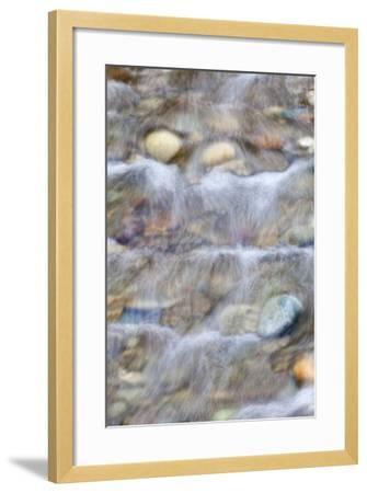 USA, Washington. Small Rocky Stream-Don Paulson-Framed Photographic Print