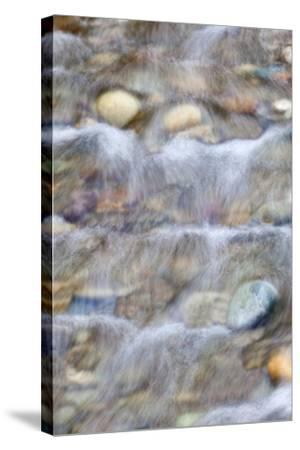USA, Washington. Small Rocky Stream-Don Paulson-Stretched Canvas Print