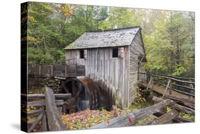 Tennessee, Great Smoky Mountains, Cades Cove, John P. Cable Grist Mill-Jamie & Judy Wild-Stretched Canvas Print