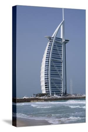 Uae, Dubai. Jumeirah District, Burj Al Arab Hotel-Cindy Miller Hopkins-Stretched Canvas Print
