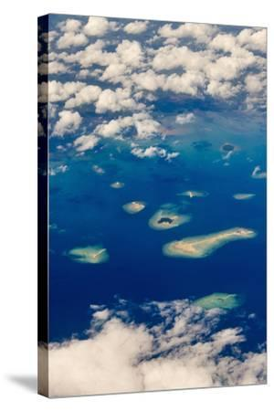 Aerial View of Islands in the Ocean, Indonesia-Keren Su-Stretched Canvas Print