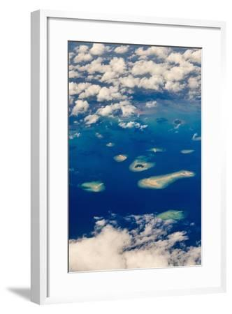 Aerial View of Islands in the Ocean, Indonesia-Keren Su-Framed Photographic Print