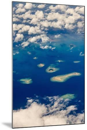 Aerial View of Islands in the Ocean, Indonesia-Keren Su-Mounted Photographic Print