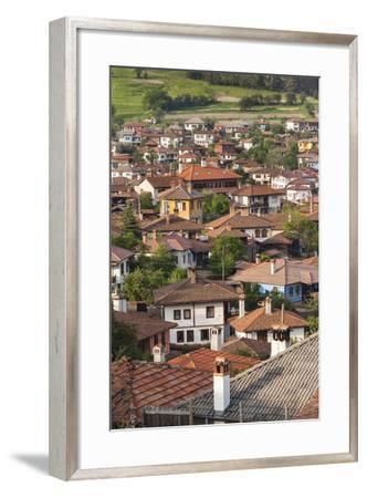 Bulgaria, Central Mountains, Koprivshtitsa, Elevated Village View-Walter Bibikow-Framed Photographic Print