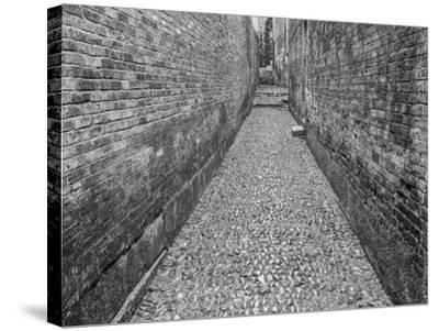 China, Ming Village Street-John Ford-Stretched Canvas Print