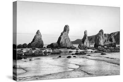 Asia, Japan, Kushimoto. View of Hashigui-Iwa Rocks on Ocean Shore-Dennis Flaherty-Stretched Canvas Print