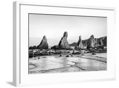 Asia, Japan, Kushimoto. View of Hashigui-Iwa Rocks on Ocean Shore-Dennis Flaherty-Framed Photographic Print