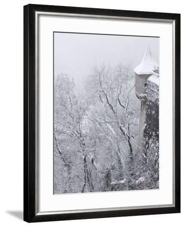 Austria, Salzburg. Part of Salzburg Castle Wall in the Winter-Bill Young-Framed Photographic Print