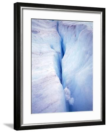 Canada Columbia Ice Fields Crevasse in Glacier-John Ford-Framed Photographic Print
