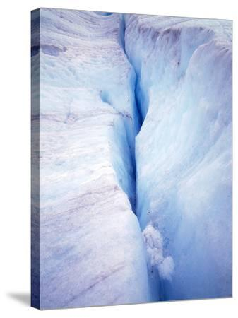 Canada Columbia Ice Fields Crevasse in Glacier-John Ford-Stretched Canvas Print