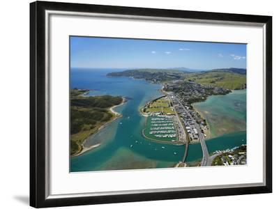 Mana Marina and Porirua Harbour, Wellington, North Island, New Zealand-David Wall-Framed Photographic Print