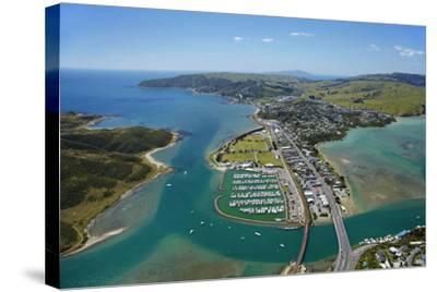 Mana Marina and Porirua Harbour, Wellington, North Island, New Zealand-David Wall-Stretched Canvas Print