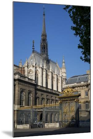 Palais Du Justice with Sainte Chappelle Overhead, Paris, France-Brian Jannsen-Mounted Photographic Print