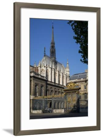 Palais Du Justice with Sainte Chappelle Overhead, Paris, France-Brian Jannsen-Framed Photographic Print