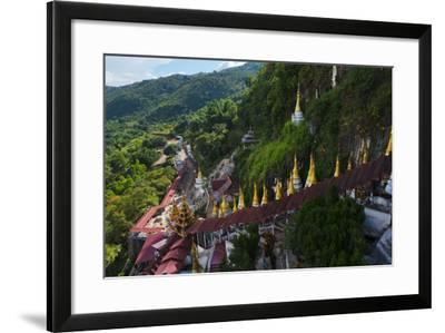 Pagodas and Stairs Leading to Pindaya Cave, Shan State, Myanmar-Keren Su-Framed Photographic Print