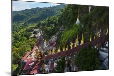 Pagodas and Stairs Leading to Pindaya Cave, Shan State, Myanmar-Keren Su-Mounted Photographic Print