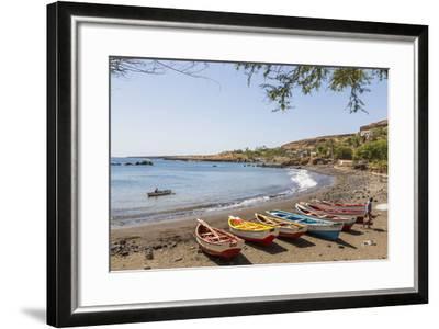 Fishing Boats on Beach, Cidade Velha, Santiago Island, Cape Verde-Peter Adams-Framed Photographic Print